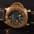 PANERAI LUMINOR SUBMERSIBLE BRONZO PAM 382 BOITE & PAPIERS