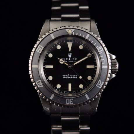 ROLEX SUBMARINER 5513 BOX & PAPERS by MAPPIN & WEBB