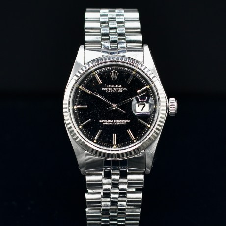 ROLEX DATEJUST REF. 1601 BLACK DIAL