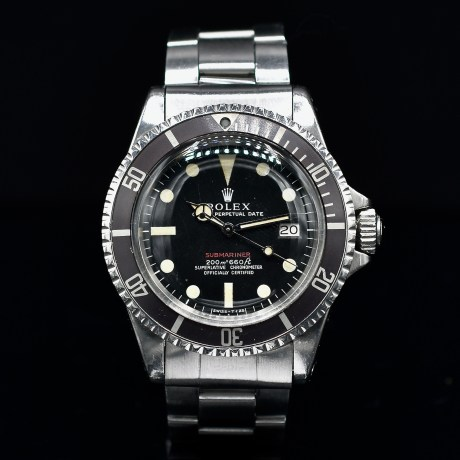 ROLEX SUBMARINER RED REF. 1680 METER FIRST DARK BROWN TROPICAL MARK 1 DIAL