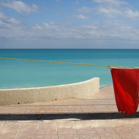 No Swimming, 2005. Huracán: In Wilma's Shadow. Archival pigment print, 16x21