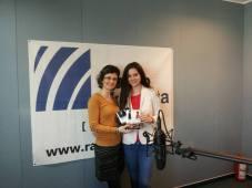 Teresa in studioul Radio CT