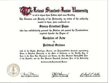 Diploma Stanford