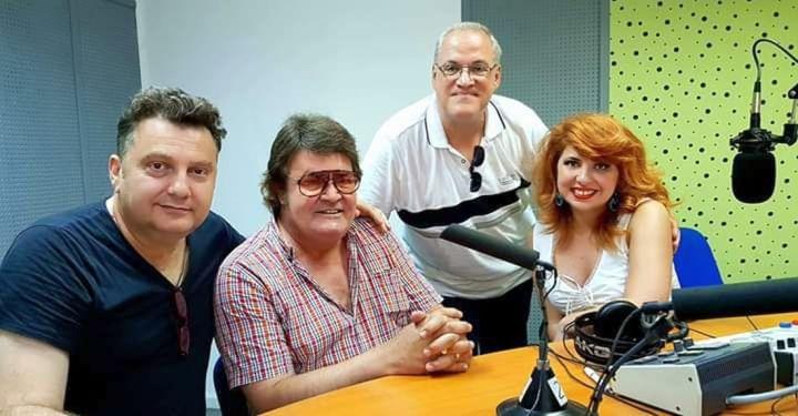 Foto mentori Masterclass Brasov 2019 in Studioul Radio Romania Brasov FM (Mihai Alexandru, Adrian Romcescu, Bianca Buca si Bogdan Dragomir - foto arh.pers. Bogdan Dragomir)