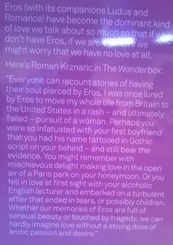 Eros totem Festival of Love