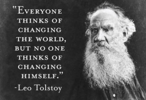 Tolstoy change yourself