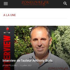 Read more about the article Interview d'Anthony BUILS sur ZONELIVRE.fr