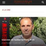 Interview d'Anthony BUILS sur ZONELIVRE.fr