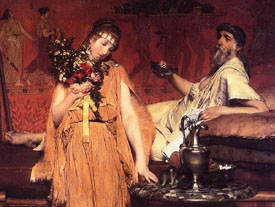 Between Hope and Fear- Alma Tadema
