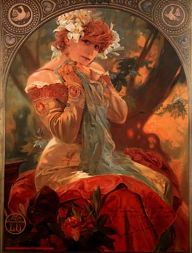 romantic love quotes romantic art Alphonse Mucha