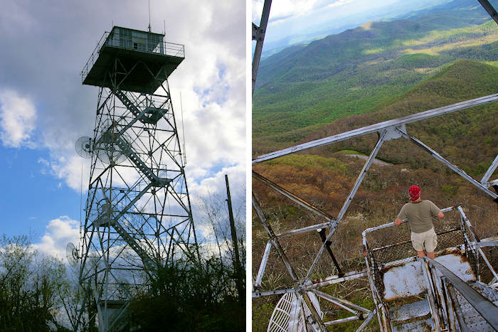 Rich Mountain Lookout Fire Tower North Carolina