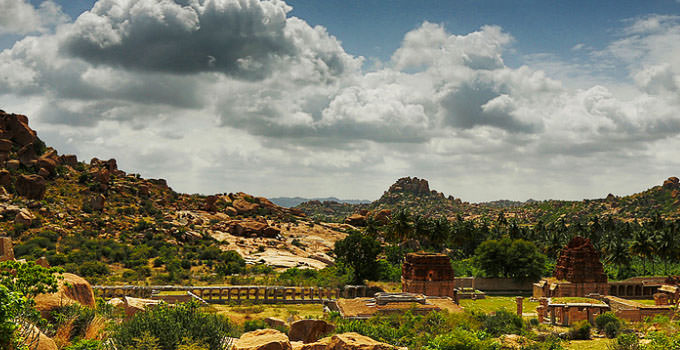 Grand View Of Achyutaraya Temple, Hampi