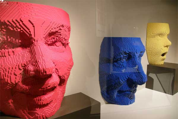 The Art of the Brick at Amrillo Art Museum