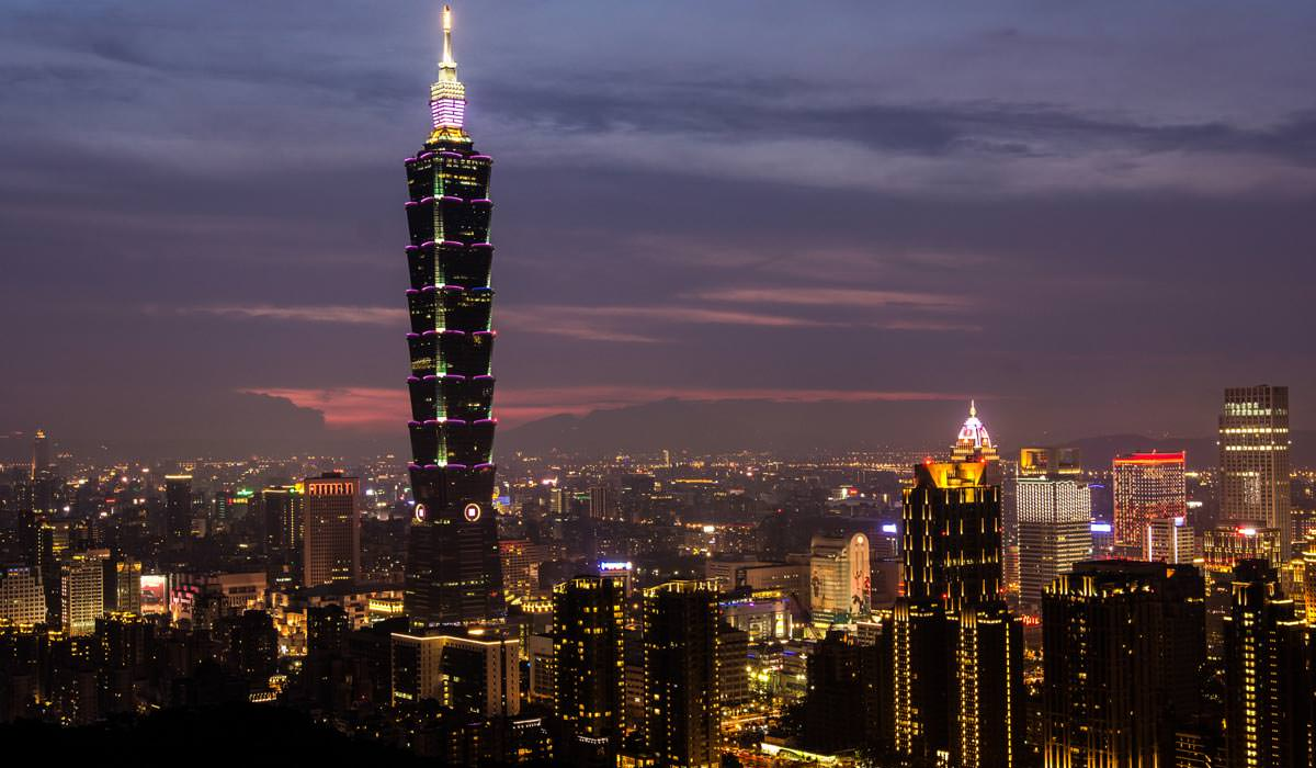 Taipei Skyline in Night