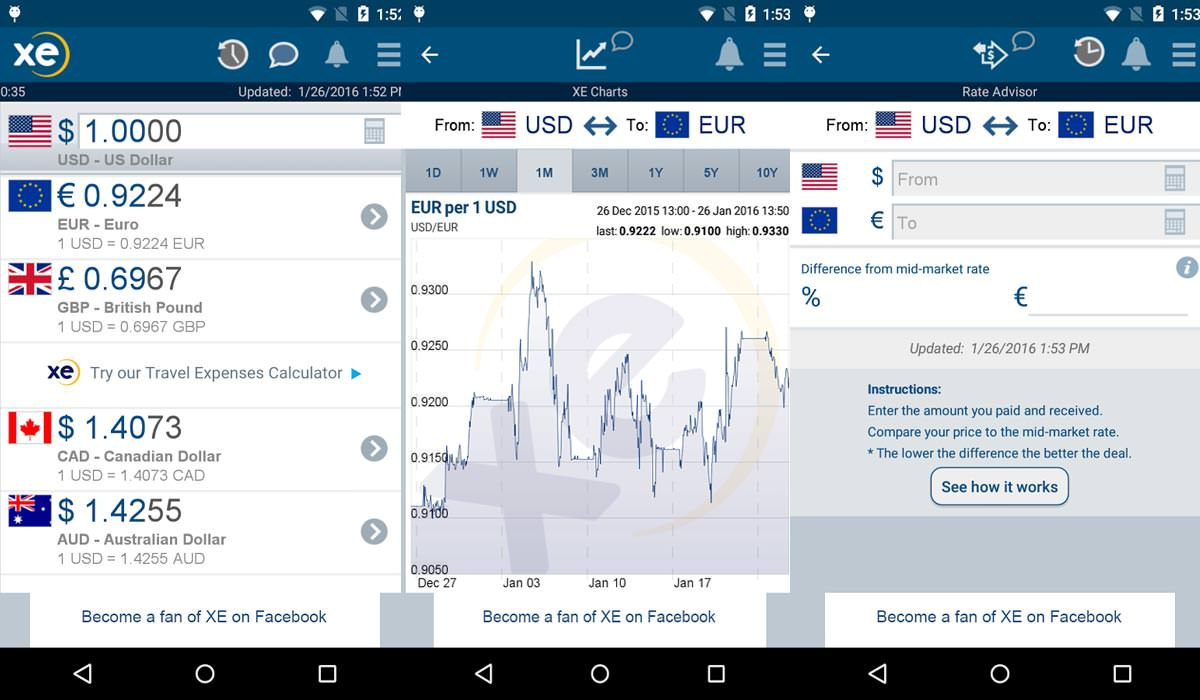 XE Currency Currency App