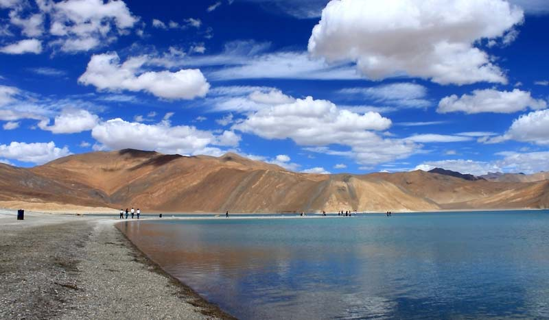 Pangong Lake in Jammu and Kashmir