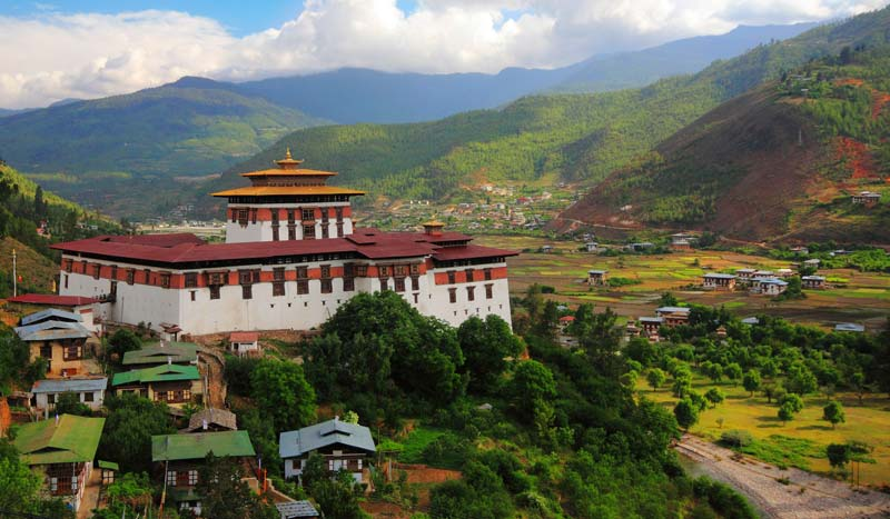 Paro Valley in Bhutan