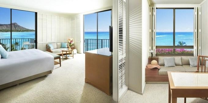 A Romantic room in Halekulani Hotel, Honolulu