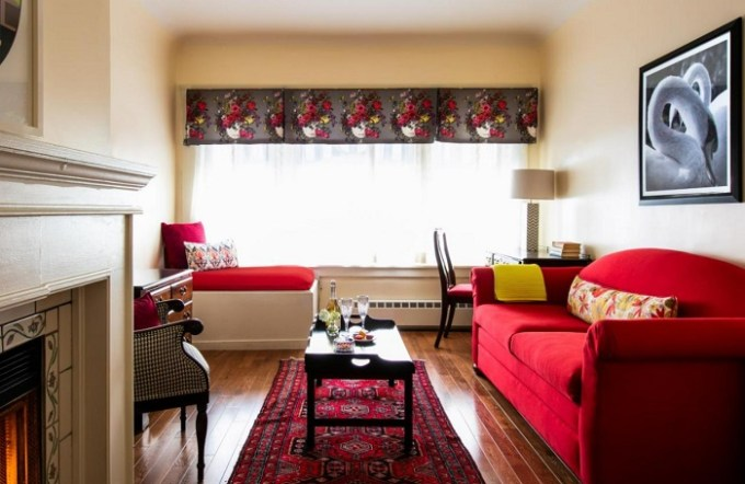 A boutique hotel suite with a fireplace in White Swan Inn, San Francisco Downtown
