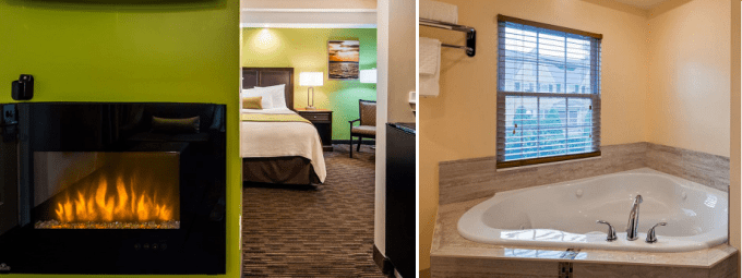 A Suite with Jacuzzi and Fireplace in Best Western Plus Cold Spring, Plymouth, Ma