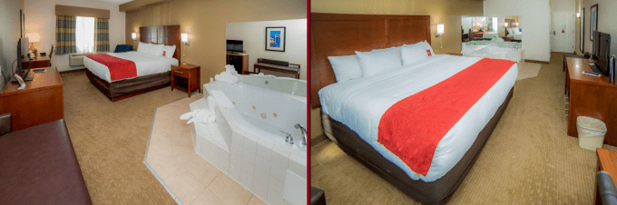 A room with jacuzzi in Hotel Comfort Suites Atlantic City North, NJ