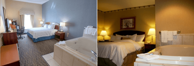Hot tub suites in Hampton Inn Chicopee - Springfield, Ma
