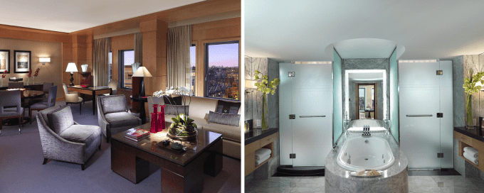 The Penthouse suite with Jacuzzi in Mandarin Oriental Boston, Massachusetts