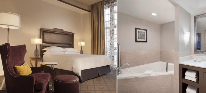 Whirlpool Suite in Embassy Suites by Hilton Downtown Fort Worth, Texas