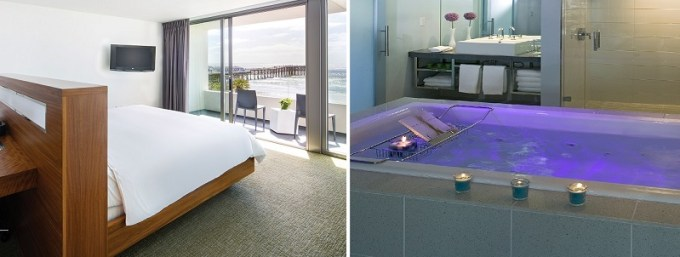 Jacuzzi Suite in Hotel Tower 23 San Diego