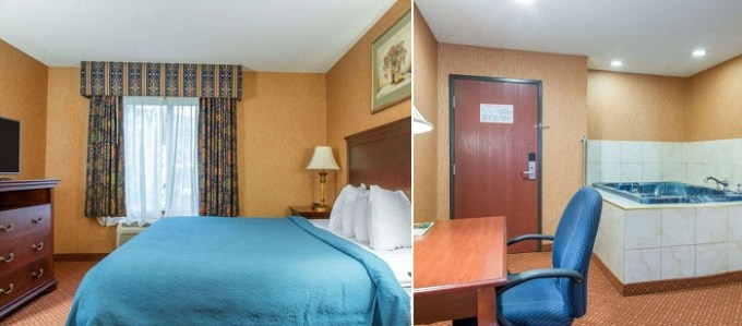 Jacuzzi suite in Quality Inn & Suites Meriden, CT
