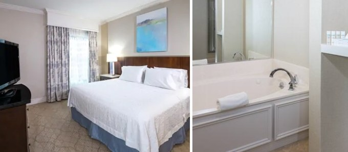 King room with Whirlpool in Hampton Inn & Suites Charlotte, South Park at Phillips Place Hotel