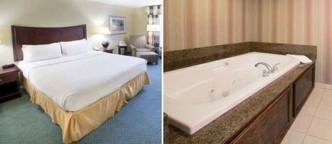 King suite with hot tub in Holiday Inn Express Indianapolis Airport Hotel