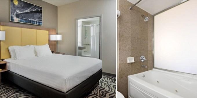 Jacuzzi room in Holiday Inn Express New York-Brooklyn hotel