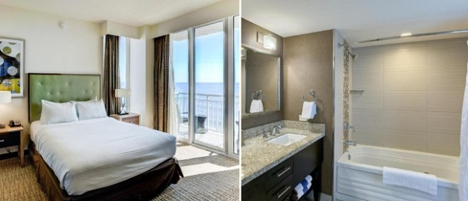 Oceanfront suite with jetted tub in the room in Oceanaire by Diamond Resorts, Virginia Beach