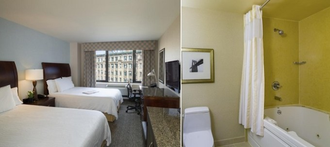 Room with private Whirlpool in Hilton Garden Inn New York - Tribeca hotel