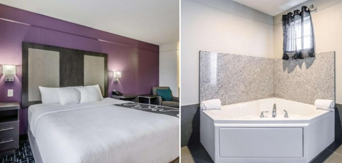 A deluxe studio suite with a jetted tub in La Quinta by Wyndham Kansas City Airport, MO