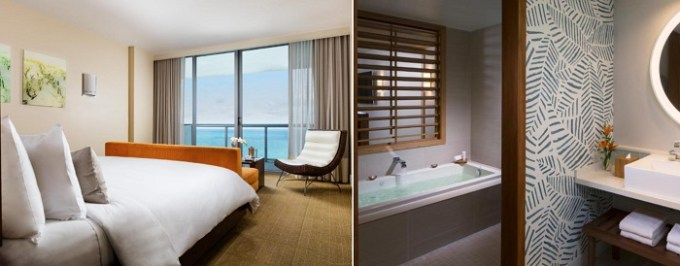 King room with a hot tub in Eden Roc Miami Beach, Florida