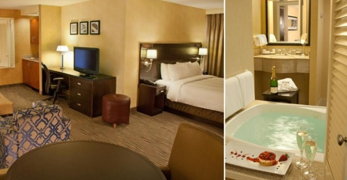 Room with a Whirlpool in Courtyard by Marriott Seattle Bellevue-Downtown, WA