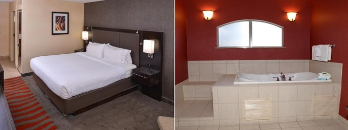 Suite with a hot tub in the room in Holiday Inn Express Hotel & Suites Dayton-Centerville, Ohio