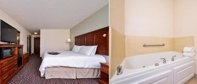 Whirlpool suite in Hampton Inn & Suites Dayton-Vandalia hotel, Ohio