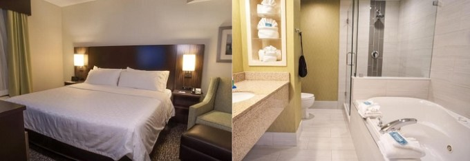 Jacuzzi suite in Holiday Inn Express and Suites Tampa I-75 at Bruce B. Downs, Florida