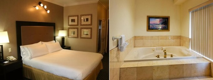 Jacuzii suite in Holiday Inn Express San Pablo - Richmond Area Hotel, CA