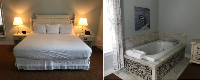 Jacuzzi suite in Admiral's Inn Resort, Ogunquit, ME