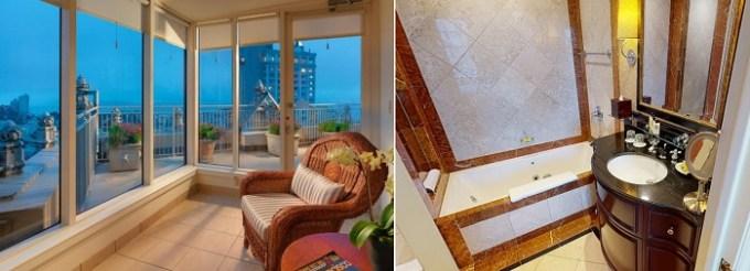 Jacuzzi suite in InterContinental Mark Hopkins San Francisco Hotel, CA