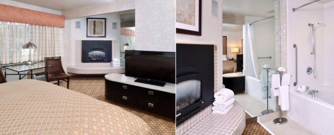 Whirlpool suite with a fireplace in Best Western Corte Madera Inn, Bay Area, CA