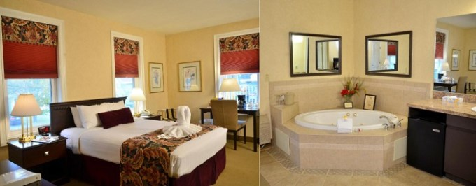 Jacuzzi room in Skaneateles Suites Boutique Hotel, near Syracuse, NY