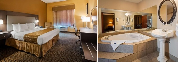 Jacuzzi suite in Best Western the Inn at the Fairgrounds, Syracuse, NY