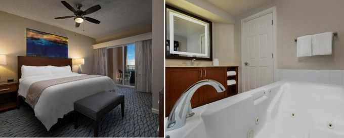 Jacuzzi suite in Marriott's Beach Place Towers Resort, Fort Lauderdale, Florida