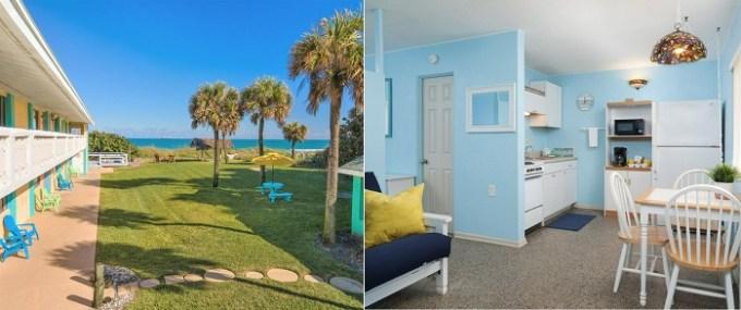 Beachfront hotel room in South Beach Inn - Cocoa Beach, near Orlando, FL