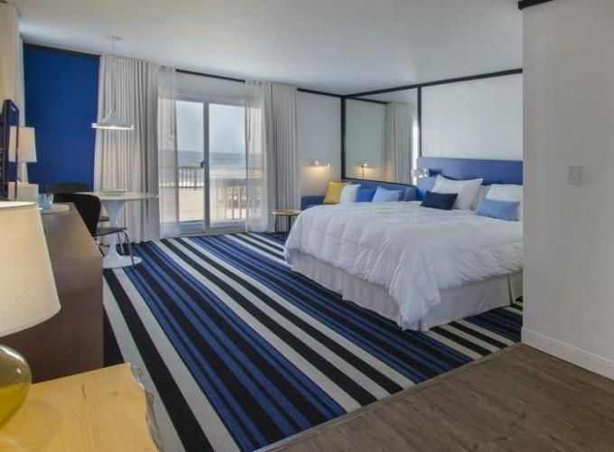 Beachfront room in Montauk Blue Hotel, the Hamptons, NY